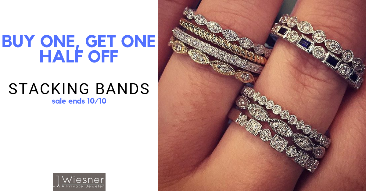 Buy One, Get One Half Off Stacking Bands